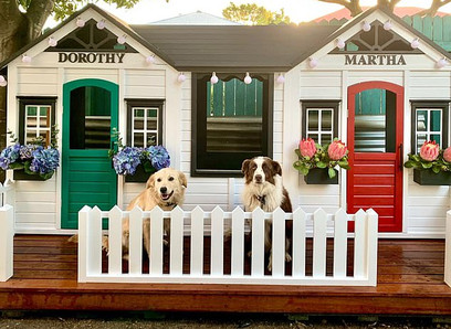 A 'dog mum' has transformed two Kmart cubbies into a lavish house for her pets.