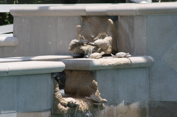 CARVED LIMESTONE POOL SPILL