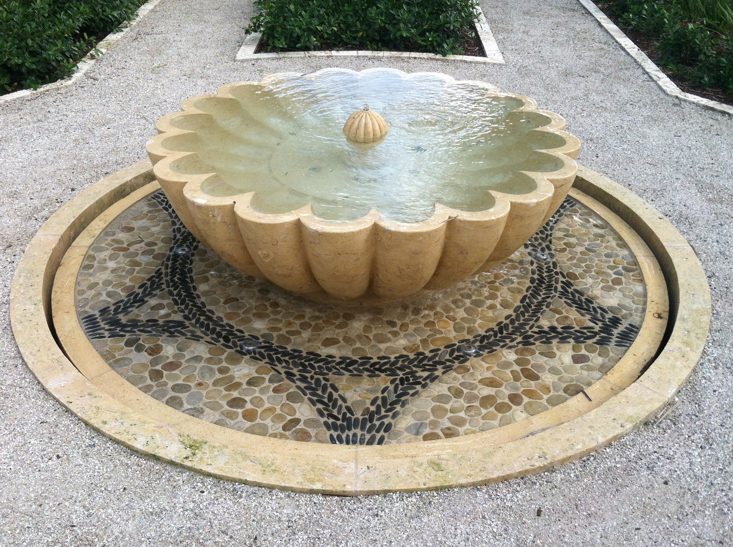 INSTALLED LIMESTONE FOUNTAIN