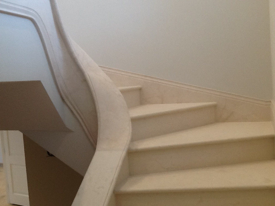 TWIST AND BEND LIMESTONE STAIRS