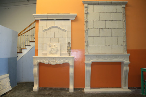 LIMESTONE FIREPLACES SAMPLES