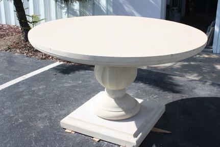 LIMESTONE TABLE AND BASE
