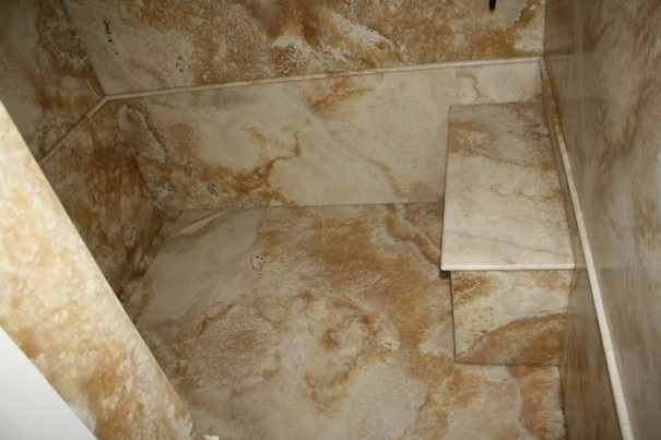 MARBLE FLOOR AND SEAT