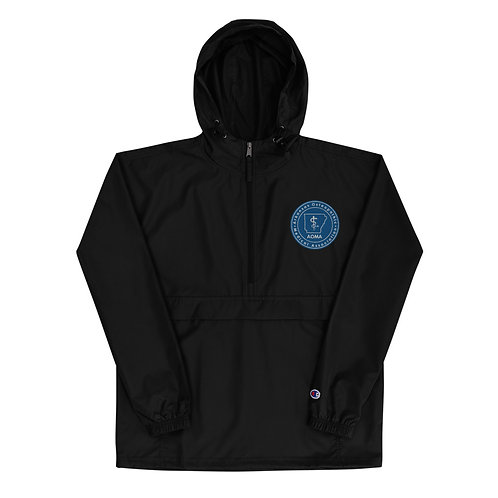 AOMA Embroidered Champion Packable Jacket