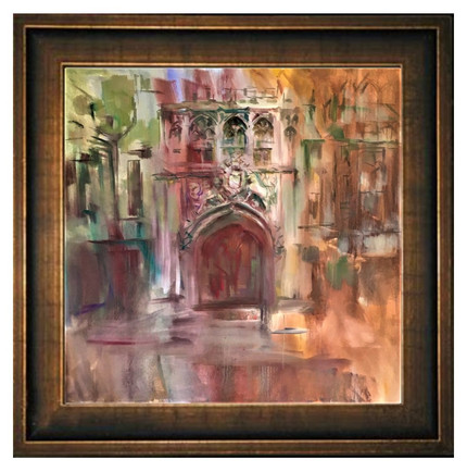 Brasenose College Gate oil 40x40 in.jpg