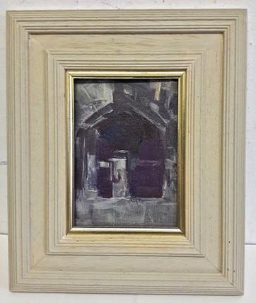 Jesus College Gate oil 7x5in.jpg