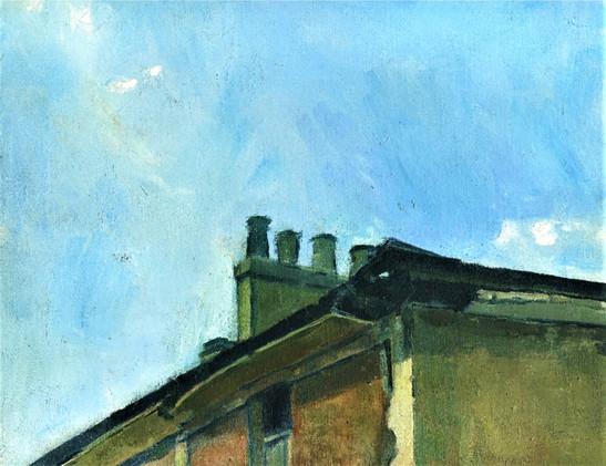 Rooftop 1968 oil 10x12 in.jpg