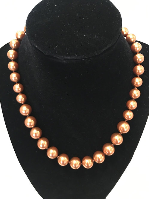 Swarovski Copper Crystal Pearl Necklace
