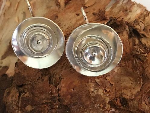Sterling Silver Circles Earrings