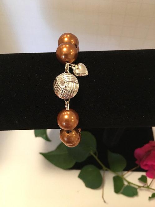 Swarovski Copper Crystal Pearl Bracelet