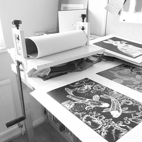 printmaking studio www.magnolialilyprint