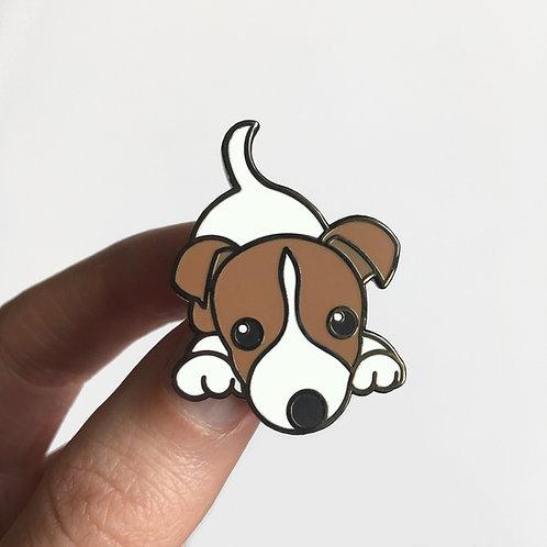 Jack Russell enamel pin badge