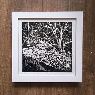 Lake District linocut print www.magnolia