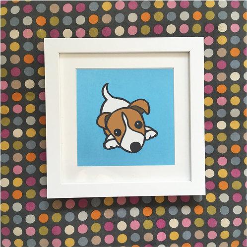 Jack Russell linocut print