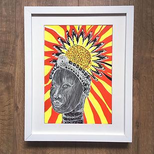 benin bronzes print frame www.magnoliali