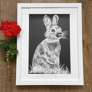 rabbit linocut black.JPG
