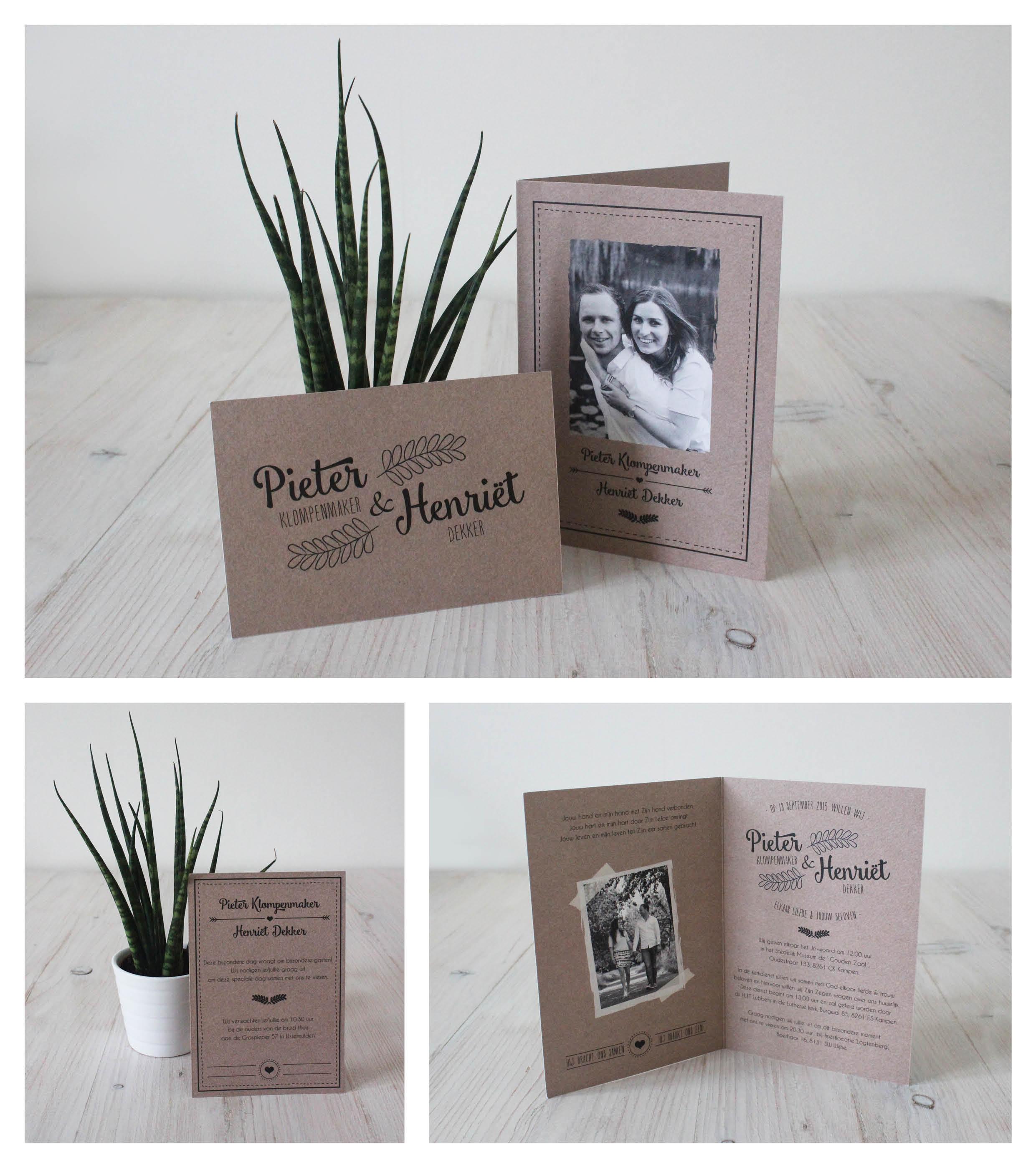 Trouwkaart - Pieter & Henriët