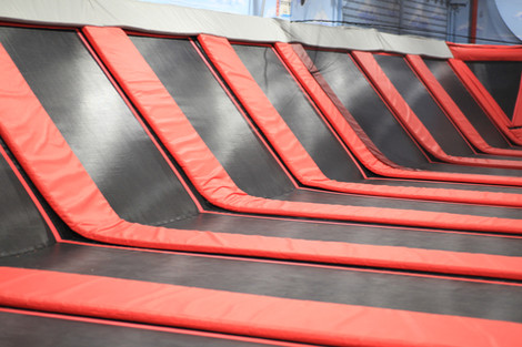 Dodgeball & Basketball Trampoline Courts