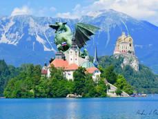 Architecture Collage No. 13 - Lake Bled & Ljubljana