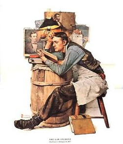 The Law Student, Norman Rockwell, 1927