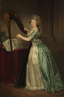 Rose-Adélaïde Ducreux, Self-Portrait with a Harp, 1790