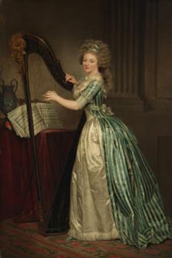 Rose-Adélaïde Ducreux, Self-Portrait with a Harp, 1790