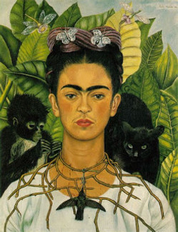 Frida Kahlo, Self Portrait with a Necklace of Thorns and a Hummingbird, 1940