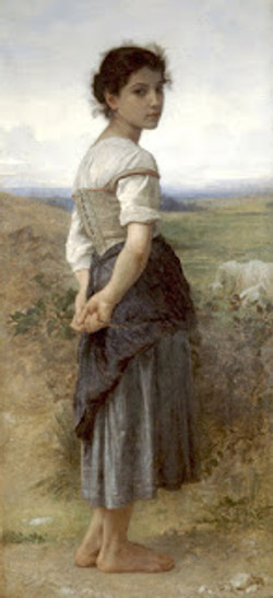 William-Adolphe Bouguereau, The Young Shepherdess, 1885