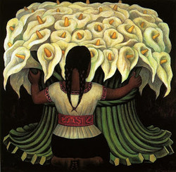 Diego Rivera, Flower Seller, 1941