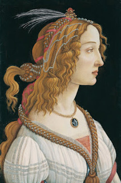 Sandro Botticelli, Idealized Portrait of a Lady (Portrait of Simonetta Vespucci as Nymph), 1480