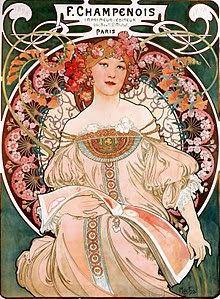 Alphonse Mucha, Dreaming (Reverie), 1897