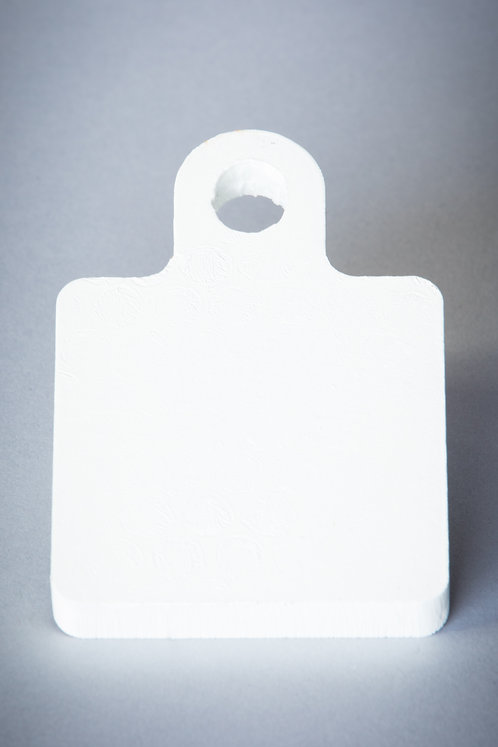 """3"""" Square Gong - 3/8'' Material - Single Ear"""
