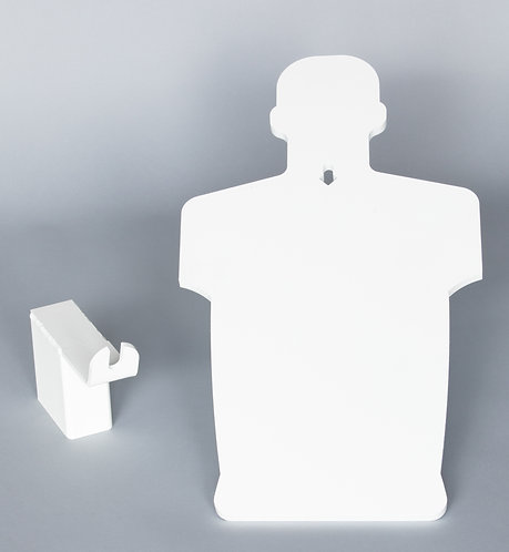 3/8''x 2/3 / Humanoid Silhouette & 2x4 Hanger Package