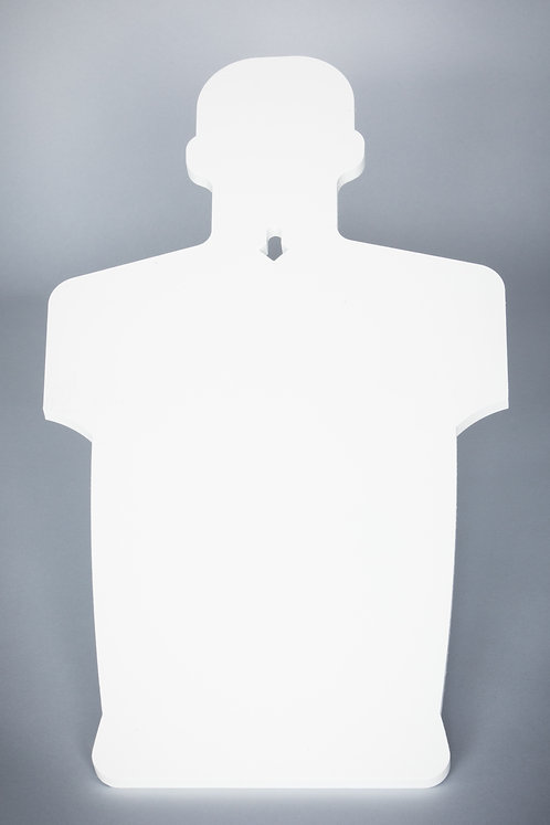 3/8''x 2/3 / Humanoid Silhouette / Center Hole