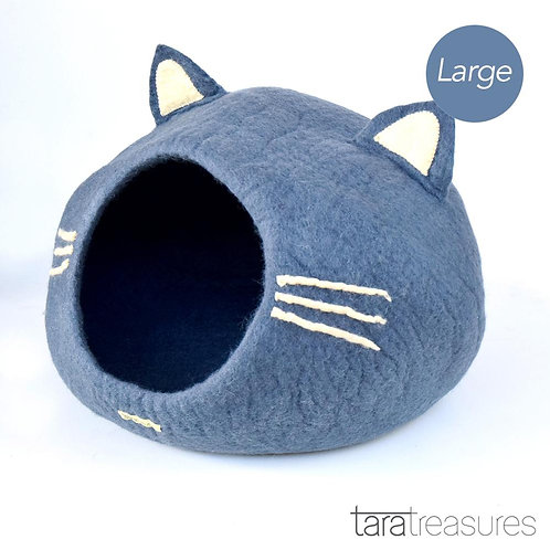 Grey Cat Head: Large Dark Grey