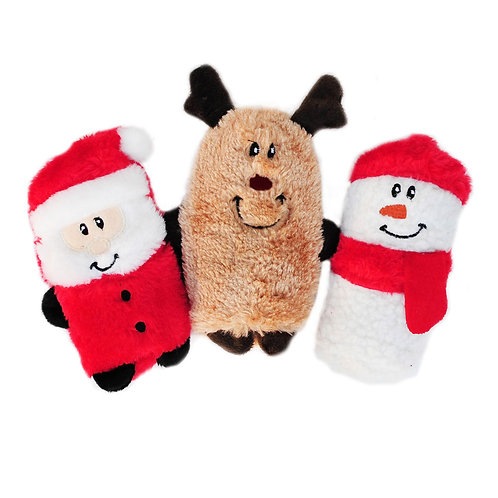Holiday Squeaky Buddies - 3 pack - Zippy Paws