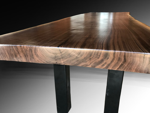 Detail of Live Edge Dining or Conference Table