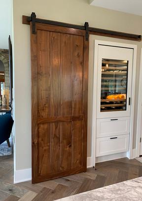 Custom black walnut barn door