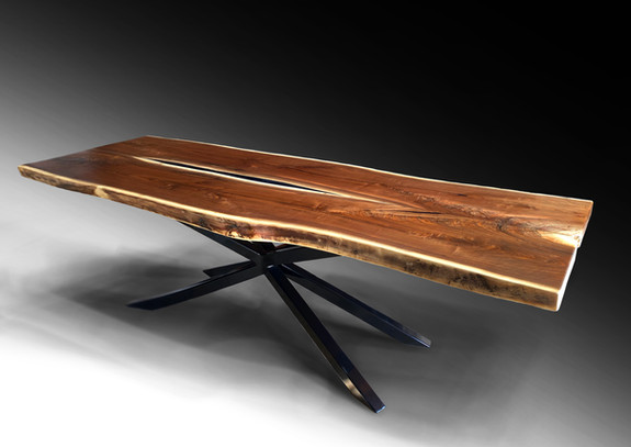 Live edge black walnut 9ft dining table - SOLD