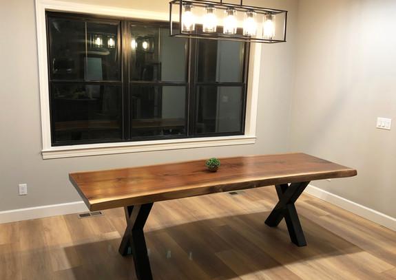 Live edge black walnut dining room table - SOLD