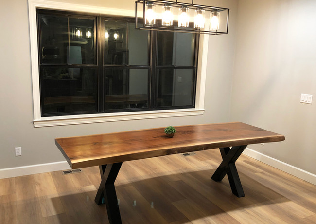 Live edge black walnut dining room table - SOLD