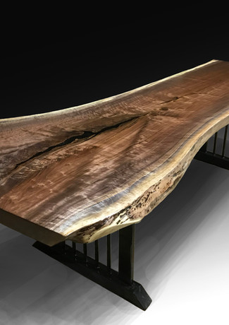 Live Edge Black Walnut Dining/Conference Room Table