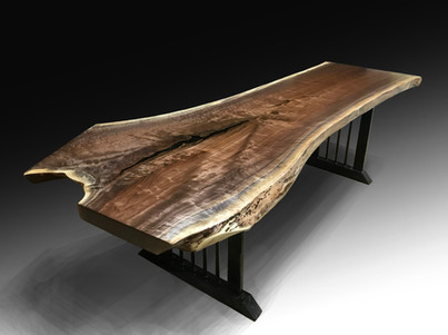 Live Edge Black Walnut Dining or Conference Table