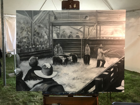 Live Painting at the 2017 Cattlemen's Ball of NE