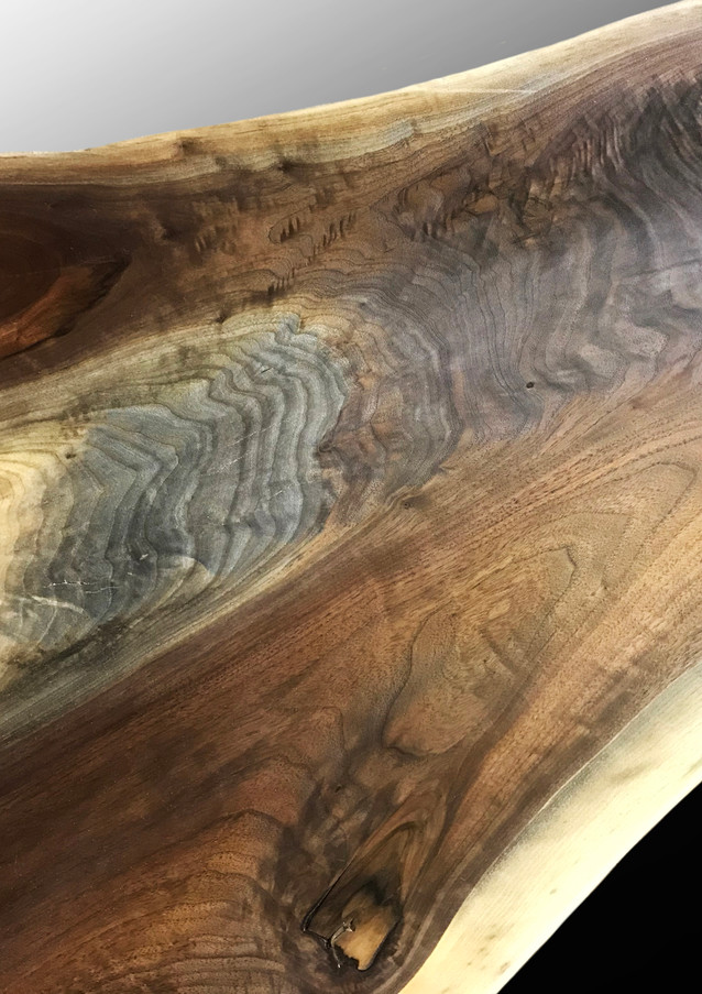 Detail of Live edge coffee table - SOLD