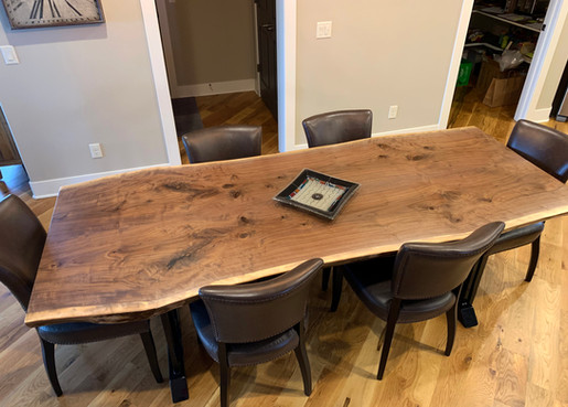 SOLD Custom Bookmatch Live Edge Dining Table