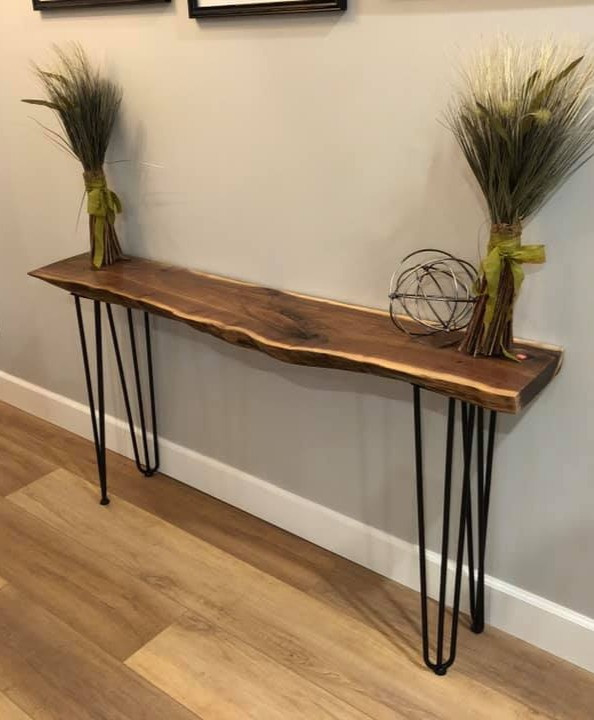 Live edge console table