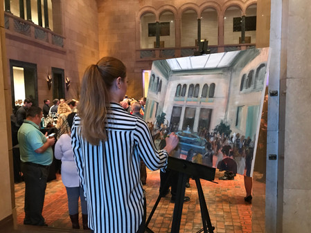 Live painting at Joslyn Art Museum for Cox Communications