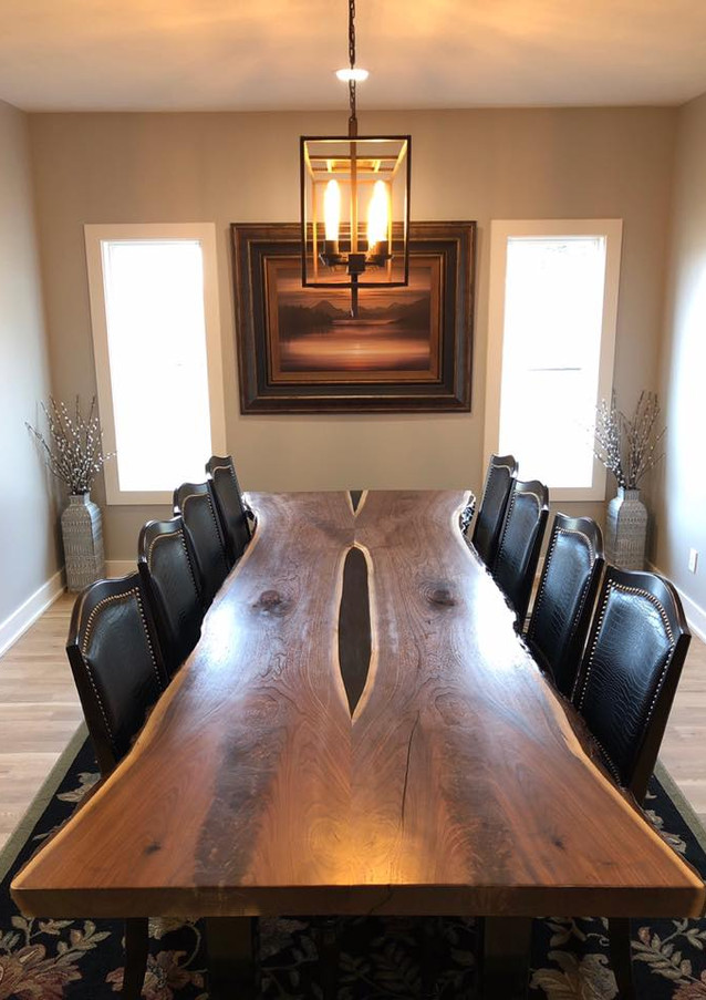 Live edge black walnut dining table - SOLD