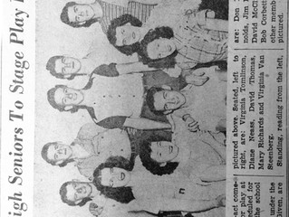 """REF 8 """"Paris High Seniors To Stage Play Friday"""" The Record -Courier, Ravenna-Kent, Ohio, April 1948."""